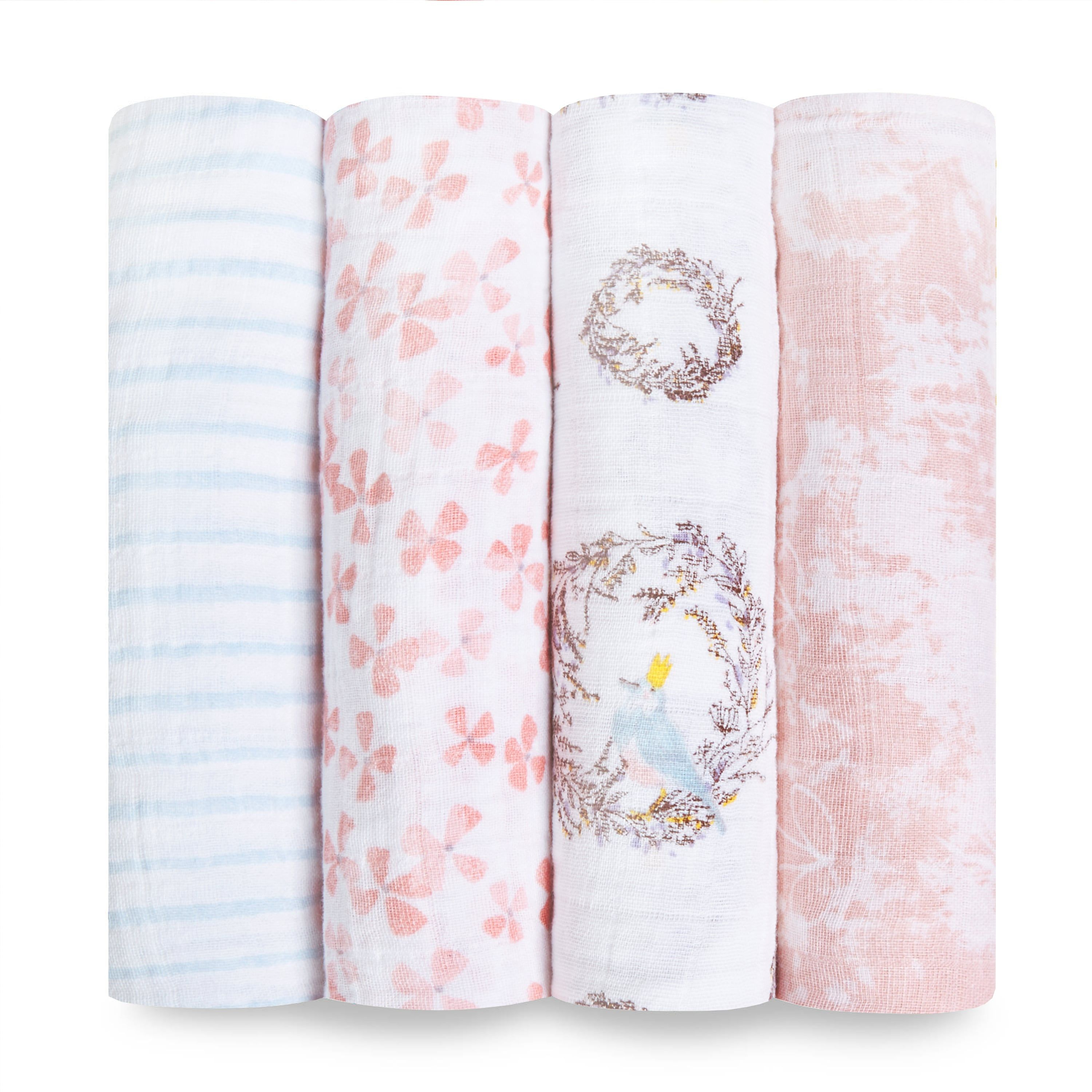 Classic Swaddle 4 Pack Aden And Anais Muslin Baby Blankets