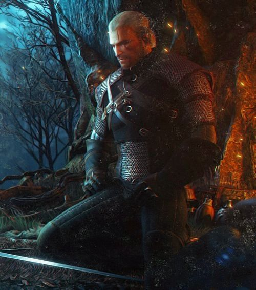 Witcher Geralt meditation | Witcher art | The Witcher, Bücher
