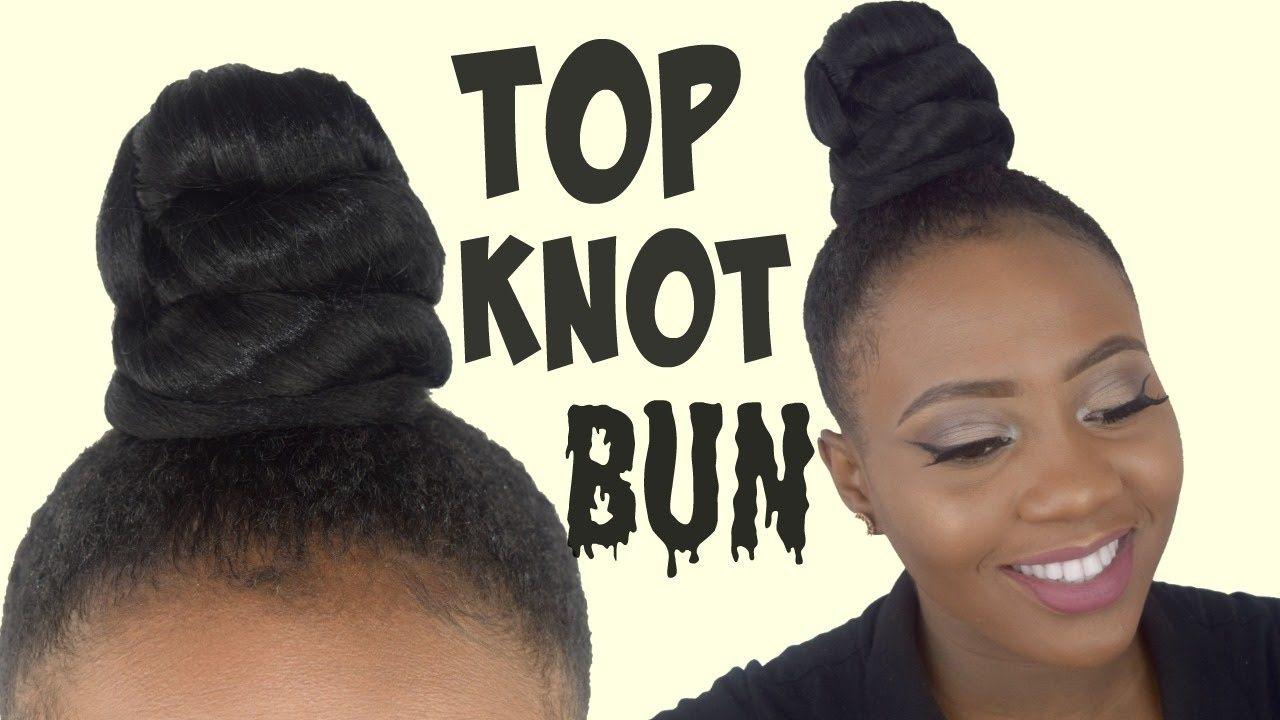 How To Top Knot Bun Tutorial Ninja Bun Using Braiding Hair