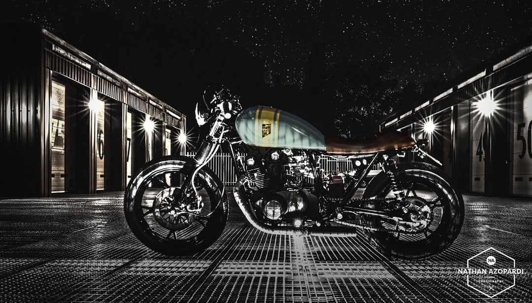 caferacerpasion.com  Wrench Kings Suzuki GS450L #CafeRacer (Rens) [TAGS] #caferacerpasion #suzuki #caferacerxxx #caferacerofinstagram #caferacerporn #caferacerculture