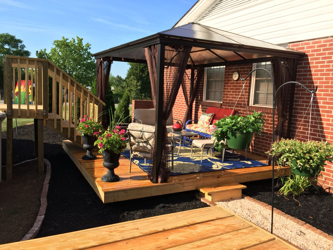 Floating Deck With Gazebo Patio Floating Deck Gazebo