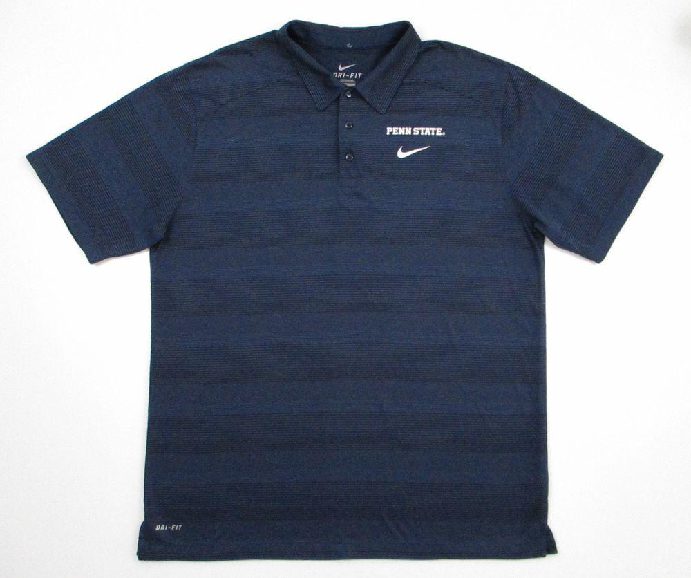Penn State Nittany Lions NCAA Coaches Polo Shirt Blue Nike