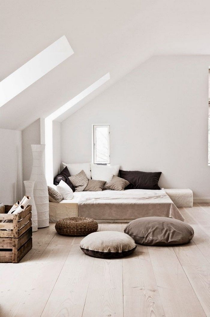 Chill Ecke Attic, yeah! Pinterest Dachschräge, Dachgeschosse - wandgestaltung schlafzimmer dachschrge