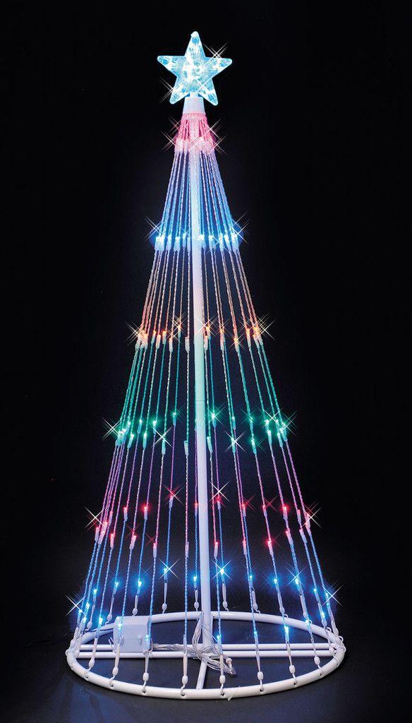 Sale 169 00 6 Ft Led Christmas Light Show Tree Multi Color