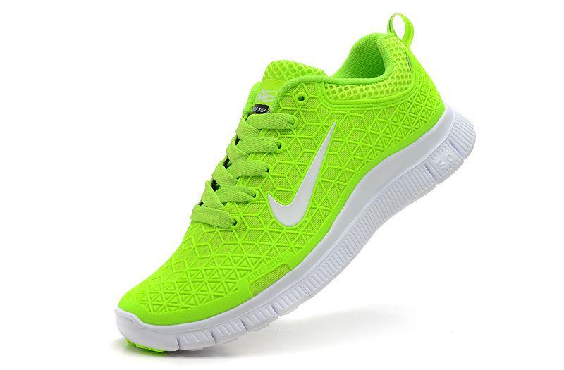 fluorescent green nike free run spider-man loves running shoes