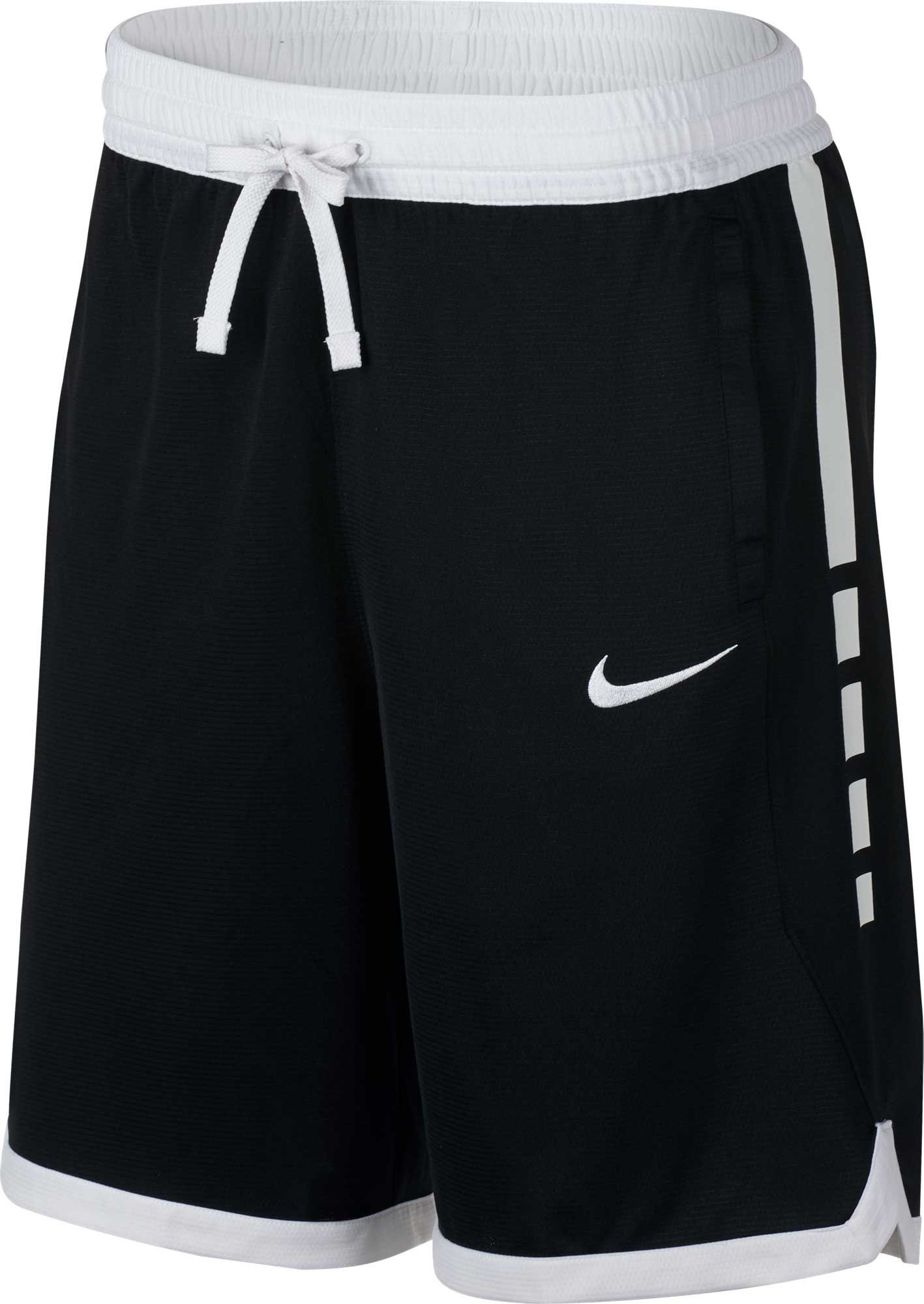 Nike Men S Dry Elite Stripe Basketball Shorts Regular And Big Tall Size Xxl Black In 2020 Basketball Clothes Womens Basketball Shorts Nike Basketball Shorts