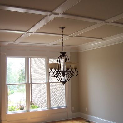 Flat coffered ceiling design pictures remodel decor and for Bedroom ideas low ceiling