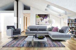Canape Item Des Lignes Epurees Pour Ce Salon 100 Contemporain Canape Design Meuble Design Decoration Maison