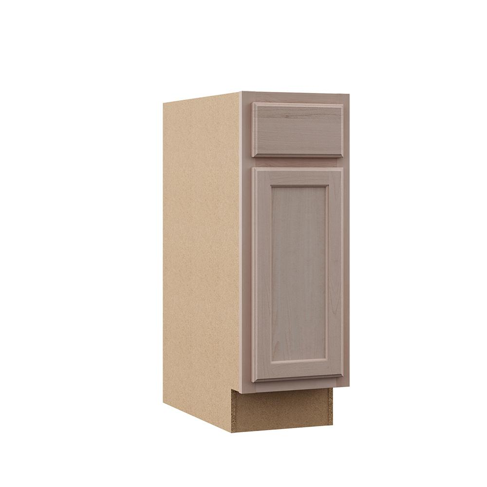 Hampton Bay Hampton Assembled 12x34 5x24 In Base Kitchen Cabinet In Unfinished Beech Kb12 Uf Wood Door Frame Solid Wood Doors How To Install Countertops