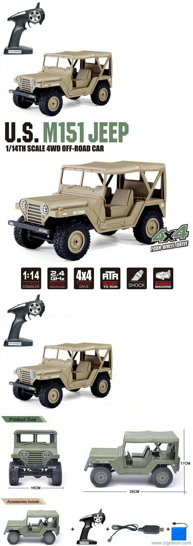 Tanks and Military Vehicles 45986: 2 4Ghz Radio Control 1 14
