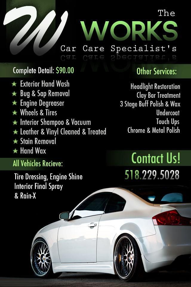 The Works Car Auto Detailing Flyer Advertising  Joes Design