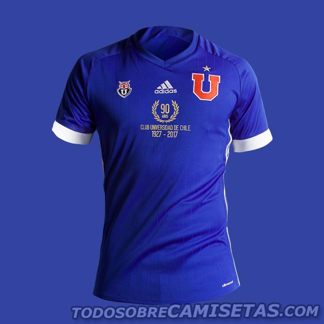 Camiseta adidas 90 años U de Chile 2017  a38c8fb420749