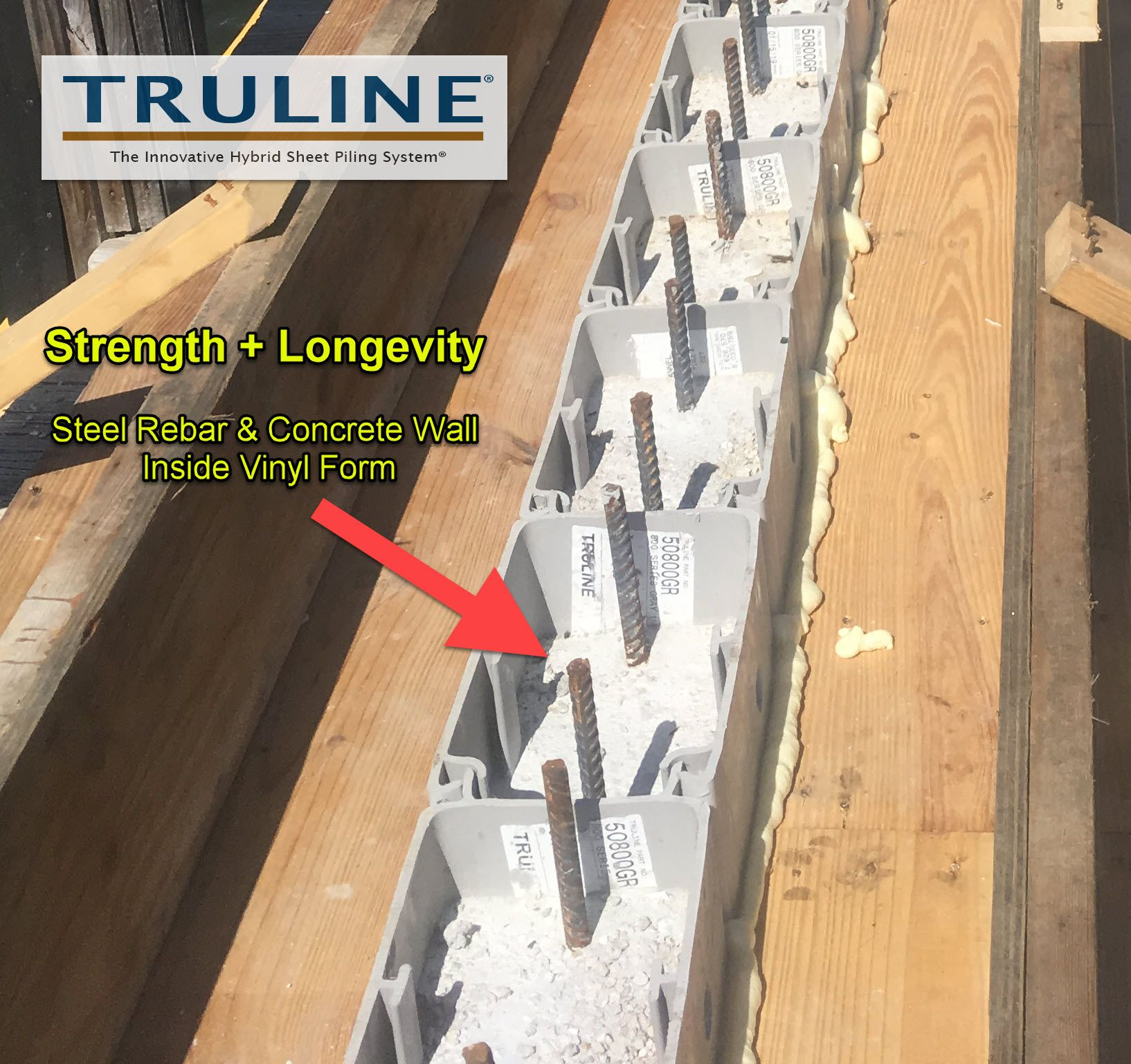 Truline Offers Strength And Longevity With Steel Reinforced Concrete Seawall Or Bulkhead Inside Vinyl Form Sea Wall Retaining Wall Concrete