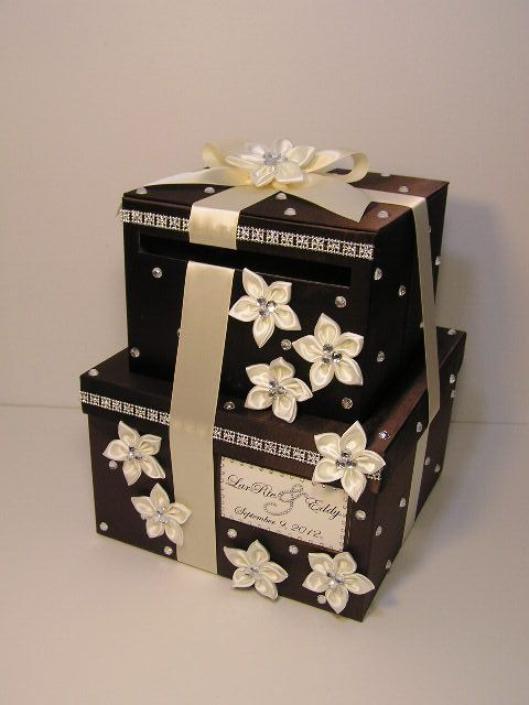 2 Tier Wedding Card Box Gift Card Box Money Card By Bwithustudio 93 00 Card Box Wedding Card Box Holder Gift Card Boxes