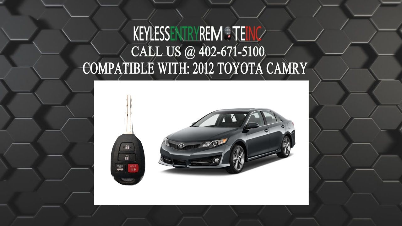 How To A Replace Toyota Camry Key Fob Battery 2012 2016 Toyota Camry Camry Car