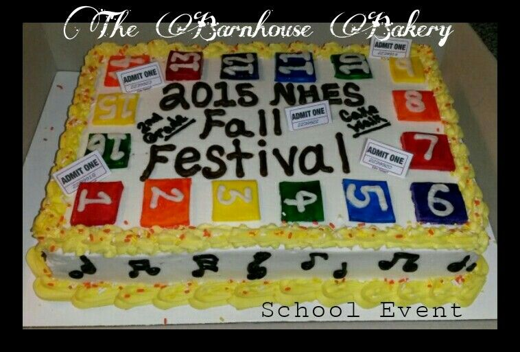 Fall Festival School Event cake Cake, Cupcake cakes