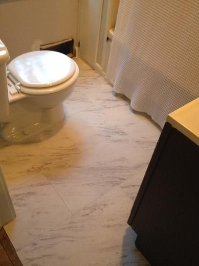 Trafficmaster Carrara Marble 12 In X 24 In Peel And Stick Vinyl Tile 20 Sq Ft X2f Case Ss1212 At The Home Vinyl Tile Marble Vinyl Peel And Stick Vinyl