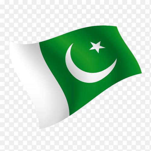 Pakistan Flag Waving Vector On Transparent Background Png Pakistan Flag Transparent Background Transparent