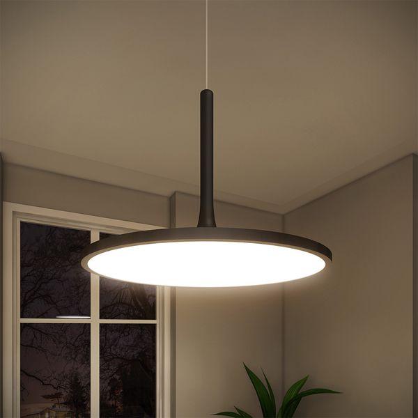 Vonn lighting salm black aluminum iron 17 inch led height adjustable fixture modern disc