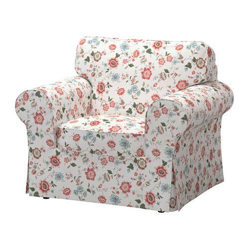 sofa chair covers ikea stair lift installation cost ektorp armchair nordvalla dark beige in 2019 my dream sewing videslund multicolor