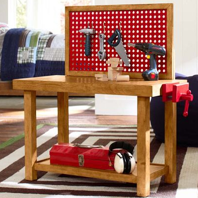 play tool bench for kids jouet gar on pinterest salles de jeux jeu et meubles. Black Bedroom Furniture Sets. Home Design Ideas