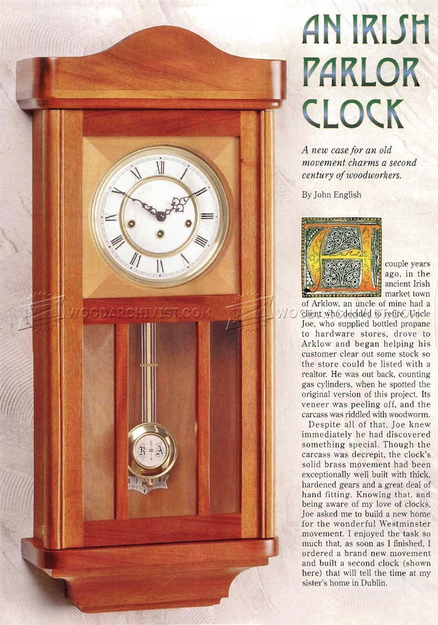 Wall Clock Plans Woodworking Plans Home Projects Pinterest