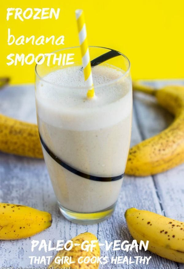 Frozen banana smoothie #frozenbananarecipes