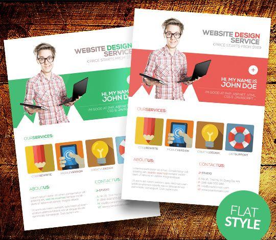 flatstylewebdesignerflyertemplate1jpg 540 469 – Web Flyer Template