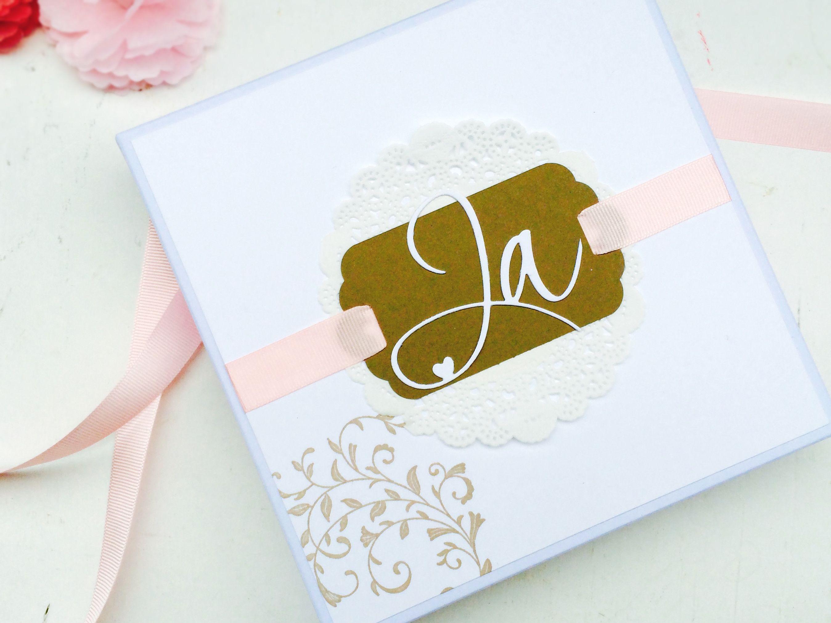 Einladung Zur Hochzeit In Einer Schachtel Liebevoll Verpackt, Außergewöhnliche  Einladung Zur Hochzeit, Sandra Kolb