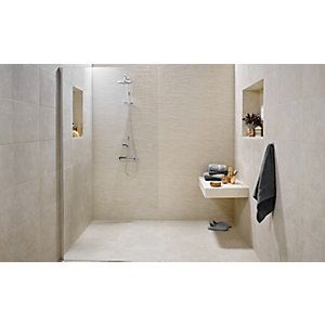 120191 - Wickes Mayfield Beige Ceramic Tile 500 X 300…   Bathroom ...