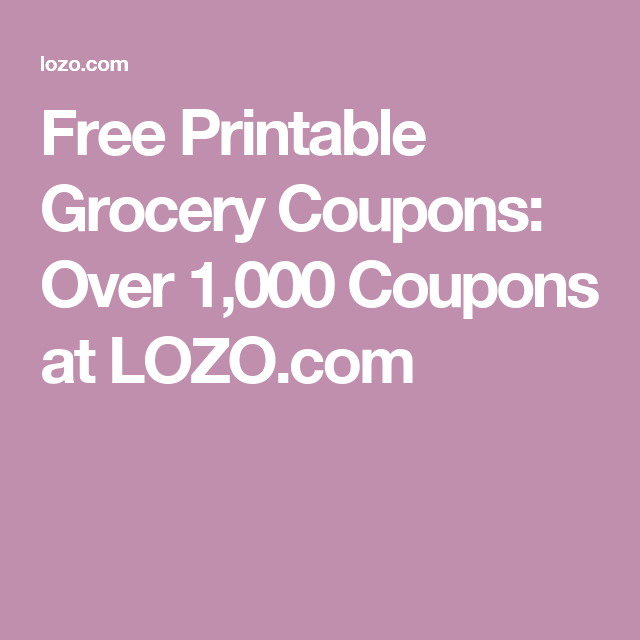 photograph relating to Lozo Printable Coupons named Free of charge Printable Grocery Discount coupons: Earlier mentioned 1,000 Discount coupons at LOZO