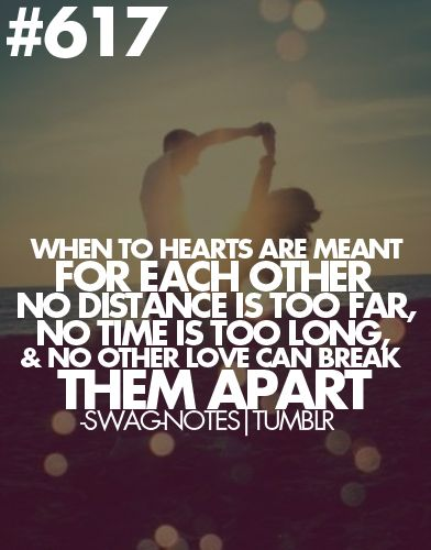 Love Each Other When Two Souls: When Two Hearts Are Meant For Each Other, No Distance Is