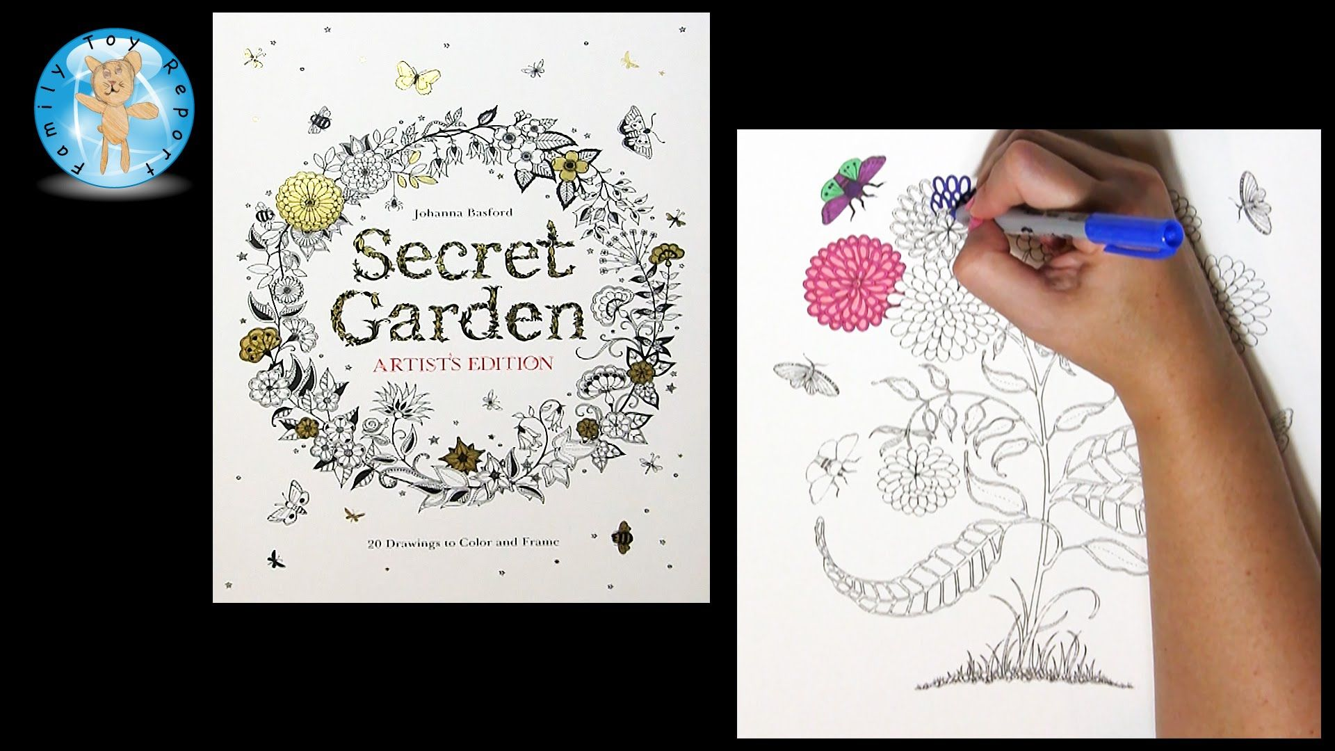 Secret Garden Artists Edition By Johanna Basford Adult Coloring Book Mu