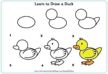 Easy To Draw Duck Education Made Easy Pinterest Desenhos