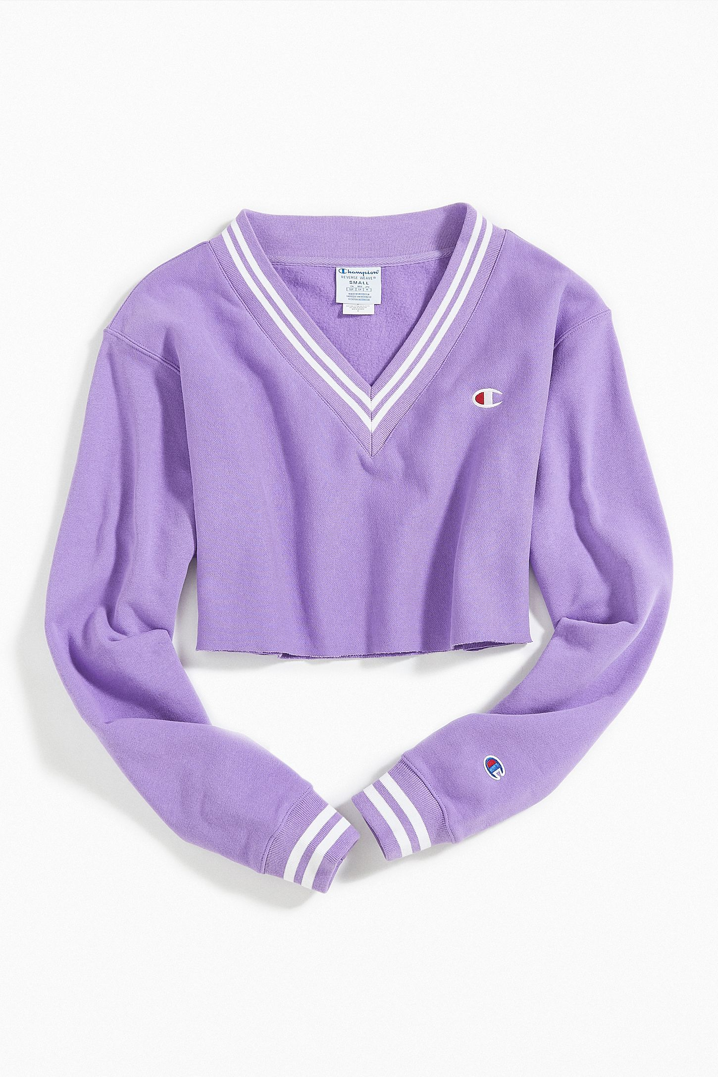 Slide View 5 Champion Uo Exclusive Oversized V Neck Cropped Sweatshirt Kawaii Fashion Outfits Cute Casual Outfits Champion Clothing [ 2175 x 1450 Pixel ]