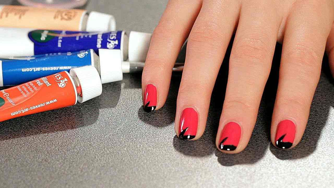 Learn How To Do A Lightning Bolt Nail Design With Tape From Megan Toth In  This