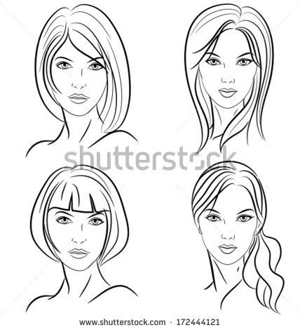 Image result for fashion illustration hairstyles