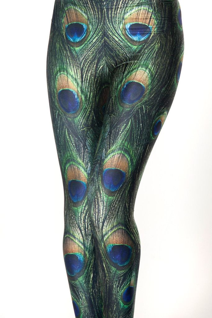 Peacock dress black milk leggings