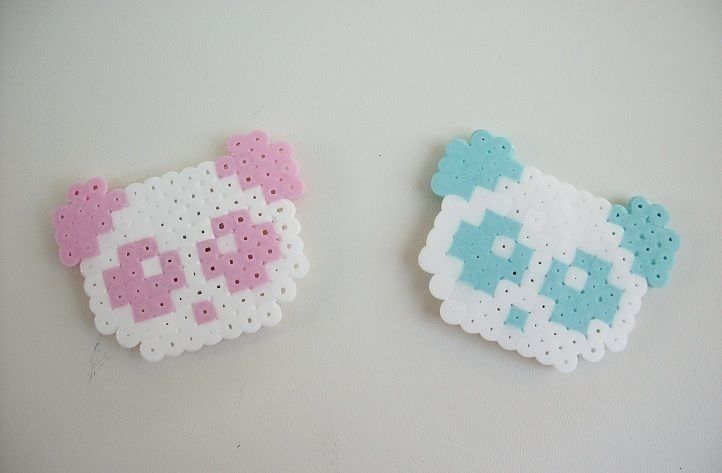 Cute kawaii creations made from perler/hama beads, some turned into magnets .  Make a pegboard bead magnet in under 90 minutes by pegboarding and fusing with perler beads. Inspired by japanese, creatures, and kawaii. Creation posted by Sally M. Difficulty: Simple. Cost: Cheap.