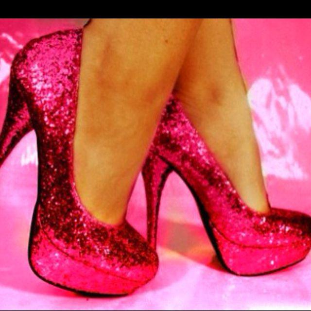 Pink Sparkly Heels
