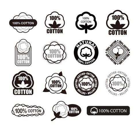 Cotton Logo Vector Set