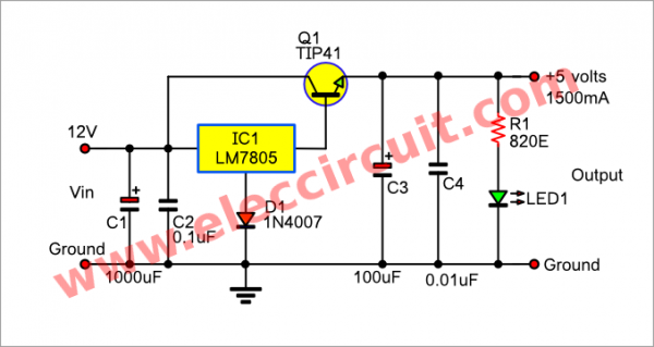 12v To 5v Converter Step Down Dc Regulator In Many Ways To Do In 2020 Digital Circuit Power Supply Circuit Converter