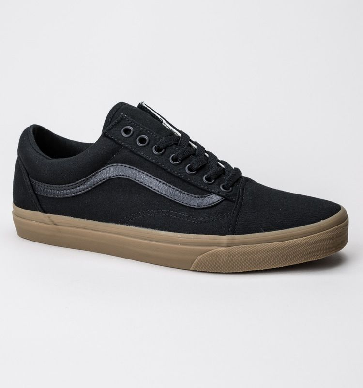 Vans Old Skool (Canvas Gum) Black Light Gum | All black vans