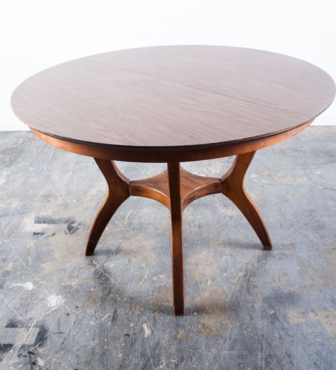 Beautiful Round Mid Century Modern Dining X2f Kitchen Table By