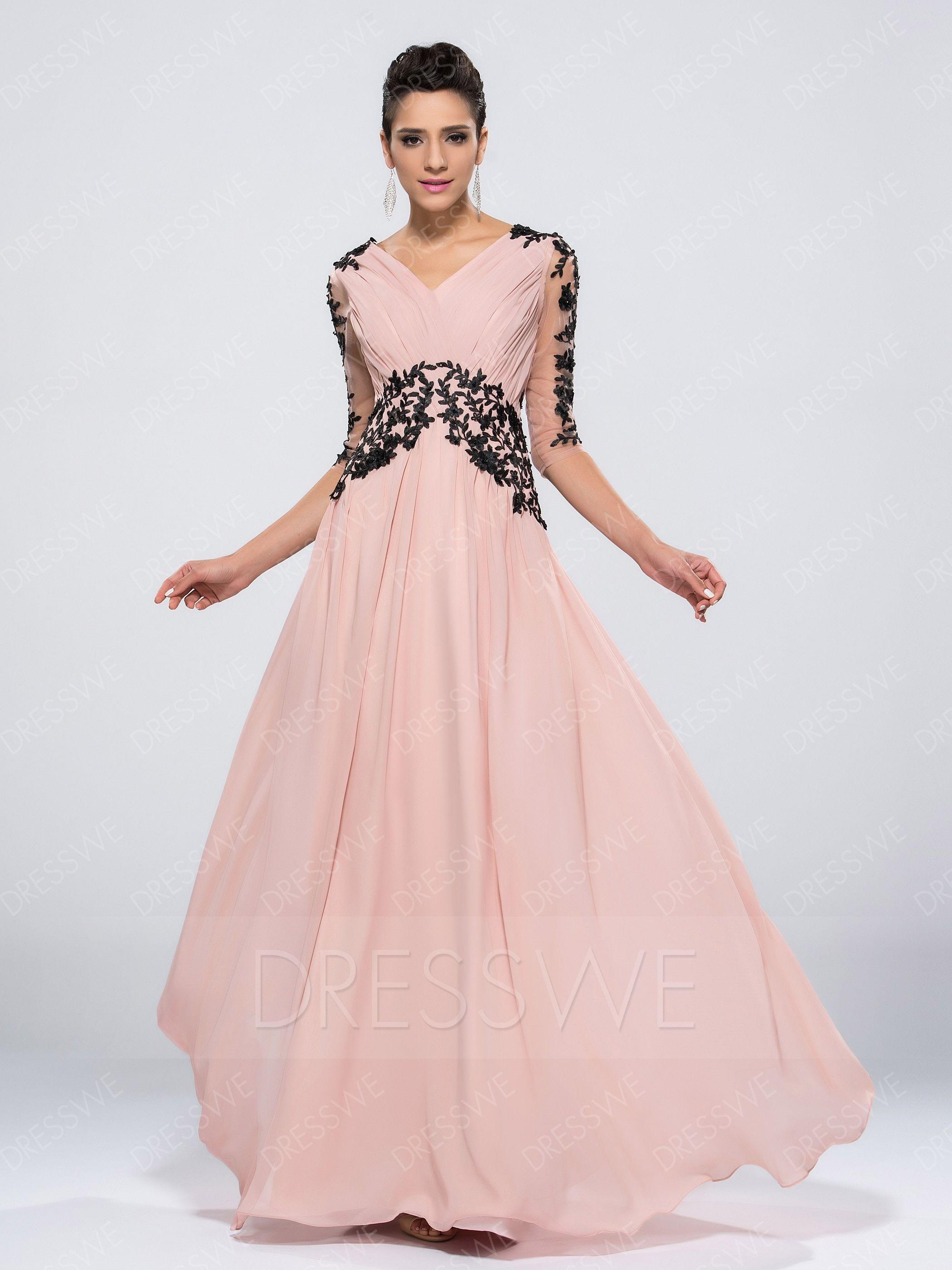 AdoreWe #DressWe Womens - Designer DressWe A-line V-Neck Long ...