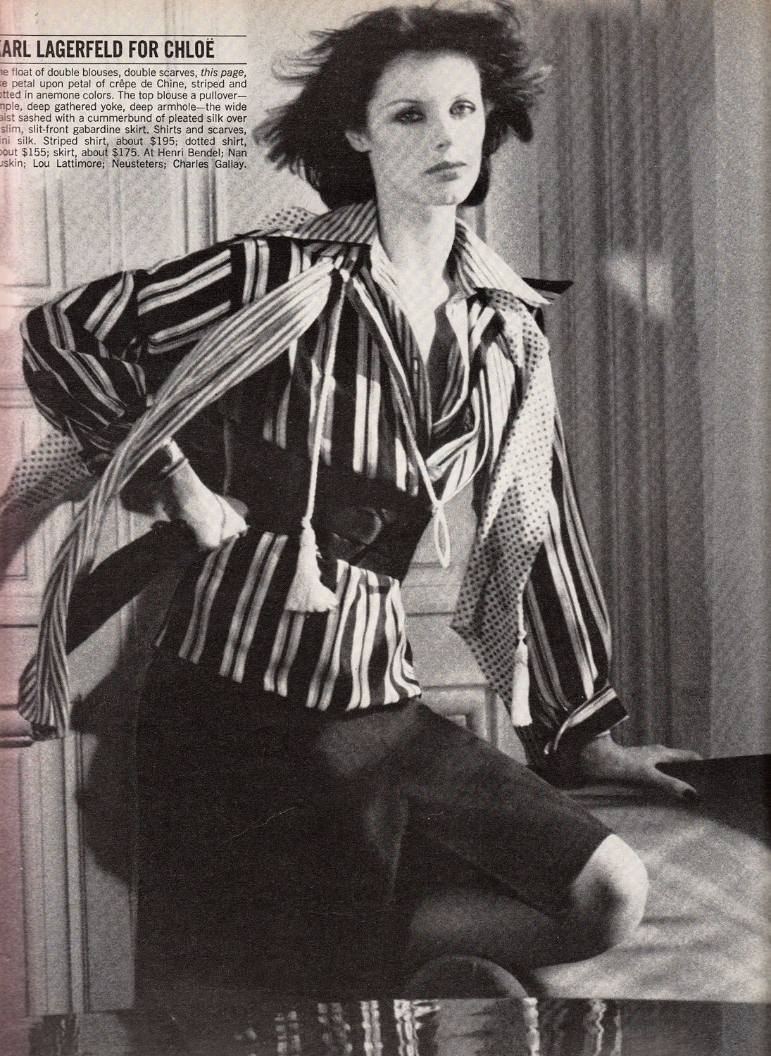Anny Duperey in Karl Lagerfeld for Chloe, Vogue US ...