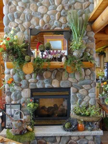 Mantel Decor For The Cabin With Mossy Accents