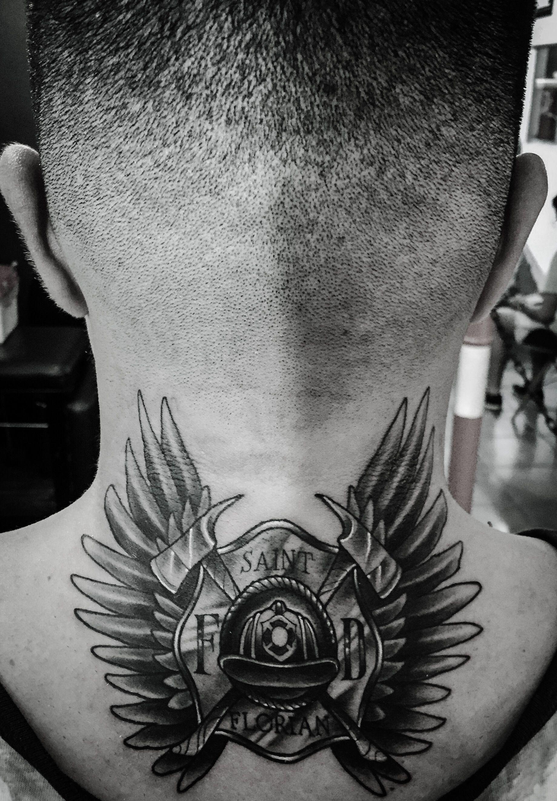 Firefighter Tattoo Saint Florian Fire Fighter Tattoos Firefighter Tattoo Fighter Tattoo
