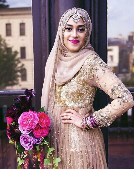 Muslim bridal dress fashion hijabi wedding pinterest for Wedding dresses for muslim brides