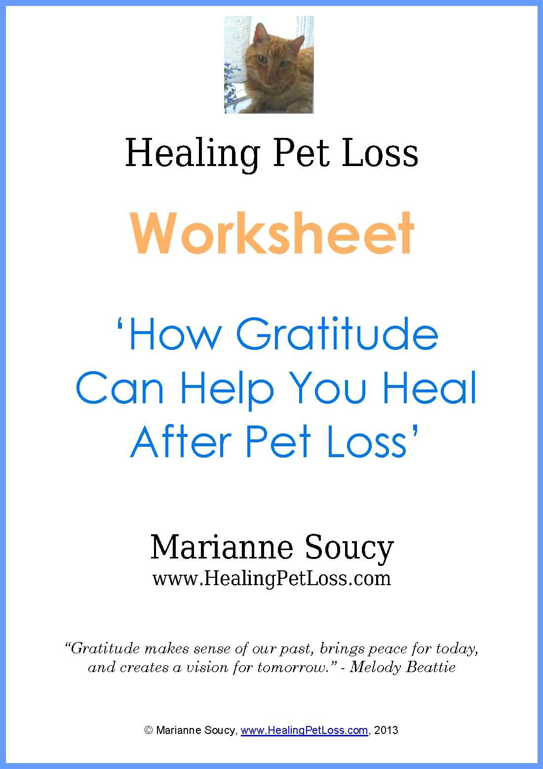 worksheet Gratitude Worksheet free download gratitude worksheet how can help you heal after pet loss